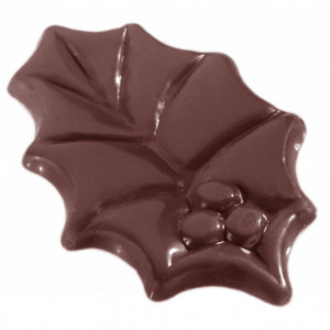 Moule à Chocolat Grandes Feuilles de Houx (x12) Chocolate World