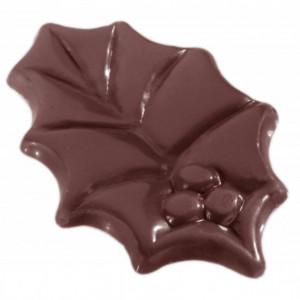 Moule à Chocolat Grandes Feuilles de Houx (x12) Chocolate World