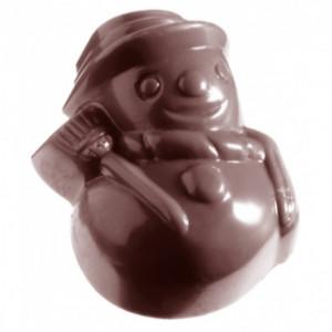 Moule à Chocolat Bonhommes de Neige (x21) Chocolate World