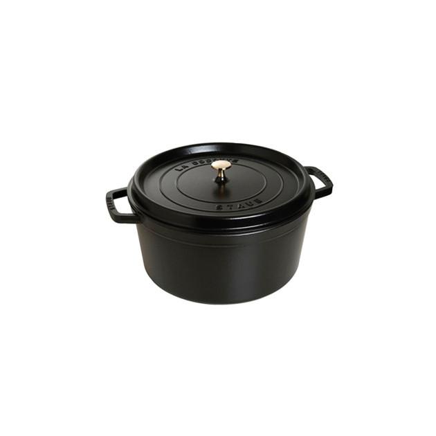 STAUB Cocotte Fonte Ronde 28 cm Noir Mat 6.7 L