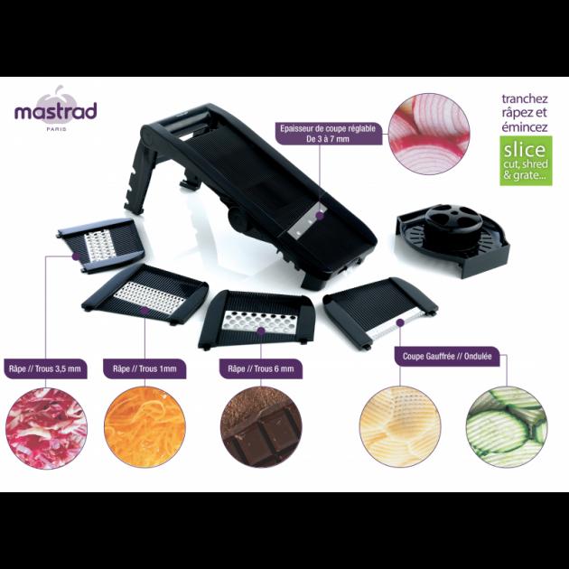 Nombreuses coupes possible avec la Mandoline Mastrad
