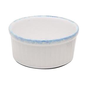 Ramequin 8,5 cm Porcelaine Blanche granitée