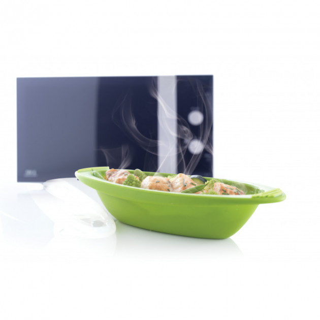 Plat realise avec la Papillote en Silicone Gourmande verte Mastrad