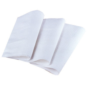 Serviettes blanches jetables 1 pli 30 x 30 cm