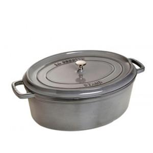 STAUB Cocotte Fonte Ovale 31 cm Gris Graphite 5,5 L