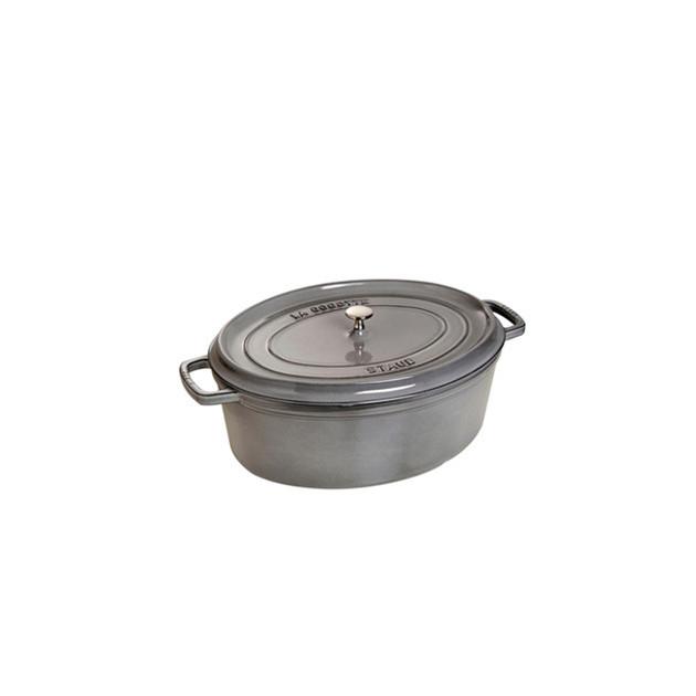 STAUB Cocotte Fonte Ovale 31 cm Gris Graphite 5.5 L