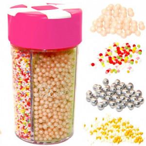 4 Décors en sucre Multi-Perles Scrapcooking