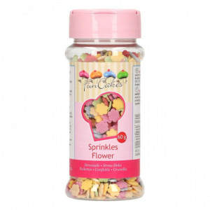 Décors en sucre Fleurs Multicolores 60g Funcakes