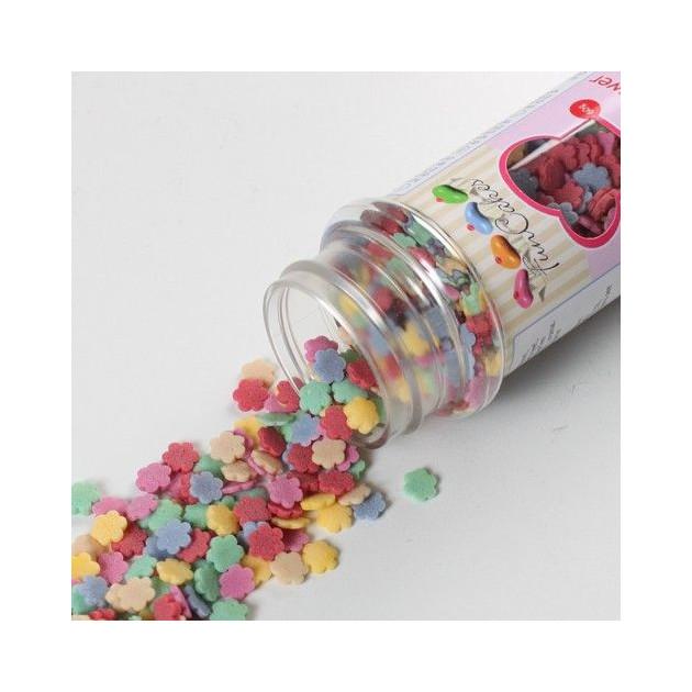 Fleurs Multicolores Confettis en sucre.