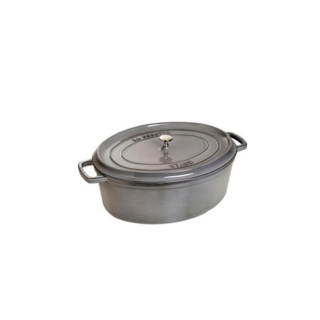 STAUB Cocotte Fonte Ovale 37 cm Gris Graphite 8 L