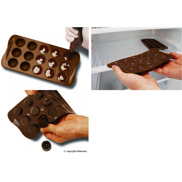 Comment utiliser le Moule a Chocolat 12 Sujets Tea Time Easy Choc - Silicone Special Chocolat