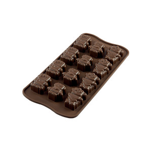 Moule à Chocolat 12 Robots Easy Choc - Silicone Spécial Chocolat