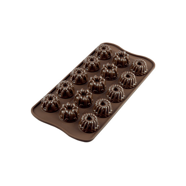 Moule a Chocolat 15 Kouglof Fantaisie Easy Choc - Silicone Special Chocolat