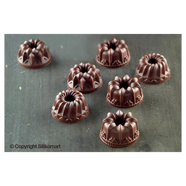 Kouglof en chocolat realises avec le moule a chocolat silicone easy choc