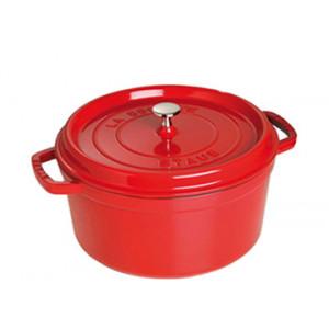 STAUB Cocotte Fonte Ronde 20 cm Rouge Cerise 2,2 L