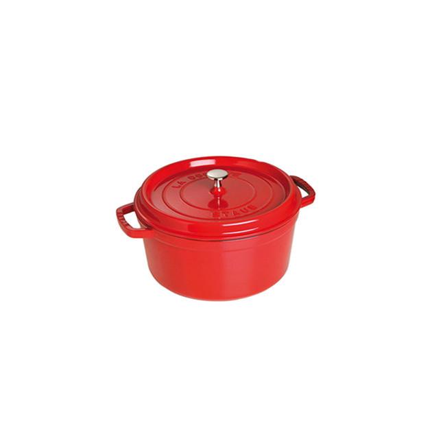 STAUB Cocotte Fonte Ronde 20 cm Rouge Cerise 2.2 L