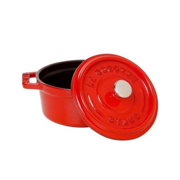 Cocotte Ronde 20 cm Rouge Staub Fonte 2.2 l