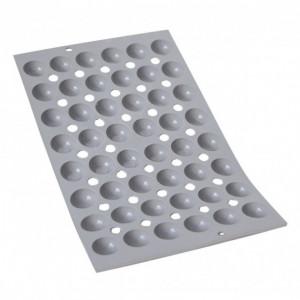 Elastomoule Demi-sphère - 48 empreintes 30 x 17,5 cm - Silicone de Buyer