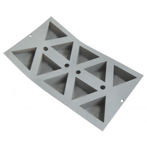 Elastomoule Triangles - 10 empreintes 30 x 17,6 cm - Silicone de Buyer
