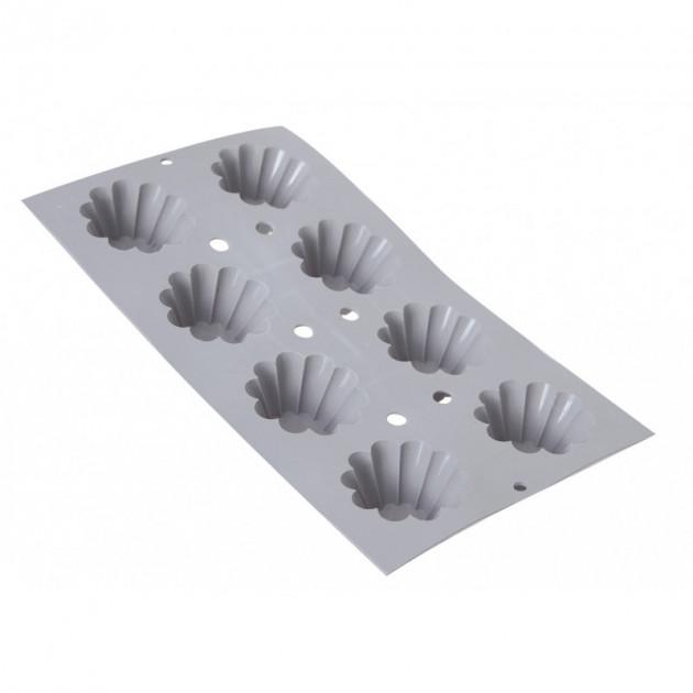 Elastomoule mini-Brioches - 8 empreintes 30 x 17.6 cm - Silicone de Buyer