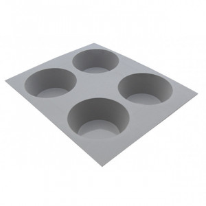 Elastomoule Muffin - 4 empreintes 21 x 17,6 cm - Silicone de Buyer