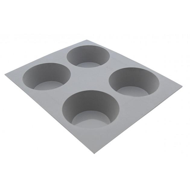 Elastomoule Muffin - 4 empreintes 21 x 17.6 cm - Silicone de Buyer