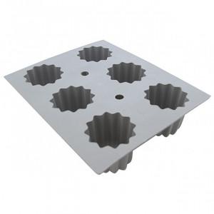 Elastomoule à Cannelé - 6 empreintes 21 x 17,6 cm - Silicone de Buyer