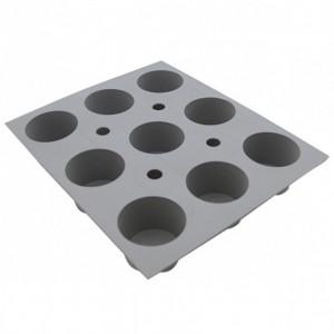 Elastomoule mini-Muffins - 9 empreintes 21 x 17,6 cm - Silicone de Buyer