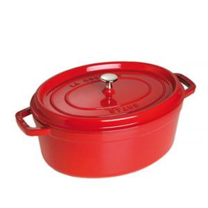 STAUB Cocotte Fonte Ovale 33 cm Rouge Cerise 6,7 L