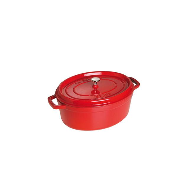STAUB Cocotte Fonte Ovale 33 cm Rouge Cerise 6.7 L