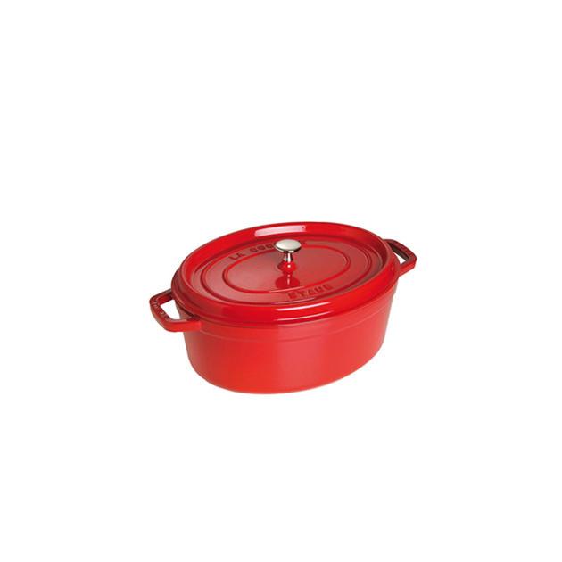 STAUB Cocotte Fonte Ovale 31 cm Rouge Cerise 5.5 L