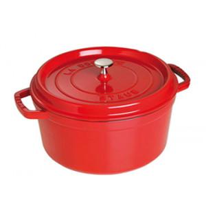 STAUB Cocotte Fonte Ronde 24 cm Rouge Cerise 3,8 L