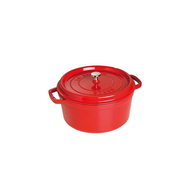 STAUB Cocotte Fonte Ronde 24 cm Rouge Cerise 3.8 L
