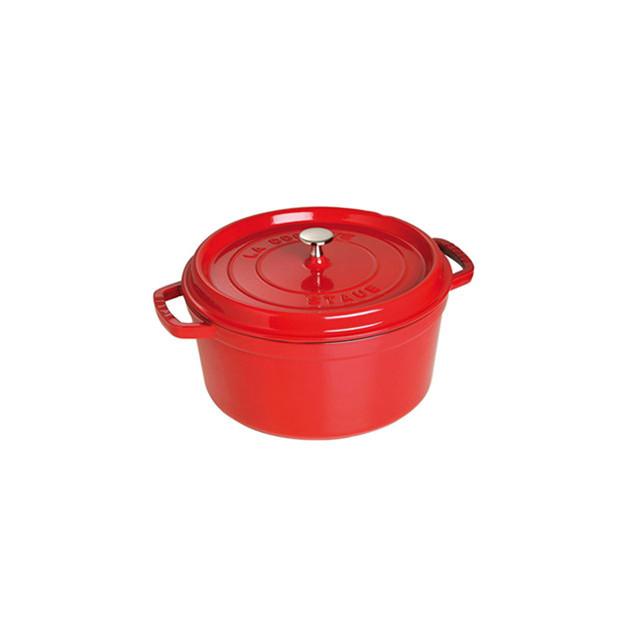 STAUB Cocotte Fonte Ronde 28 cm Rouge Cerise 6.7 L