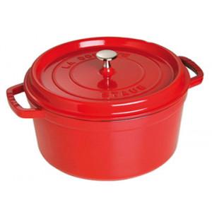 STAUB Cocotte Fonte Ronde 30 cm Rouge Cerise 8,35 L