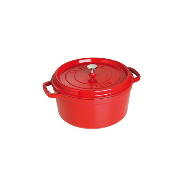 STAUB Cocotte Fonte Ronde 30 cm Rouge Cerise 8.35 L