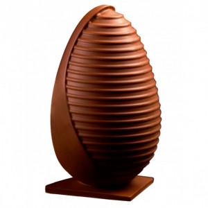 Moule Chocolat Oeuf Stripe Ø 13 x H 20 cm (x2) Pavoni