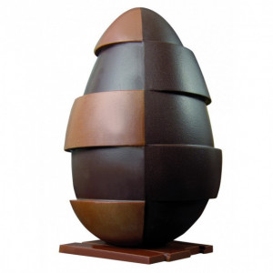 Moule Chocolat Oeuf Design 20 cm N°4 x2
