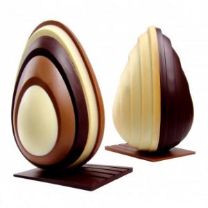 Moule Chocolat Oeuf Design 20 cm N°5 x2
