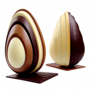 Moule Chocolat Oeuf Level Ø 13 x H 20 cm (x2) Pavoni