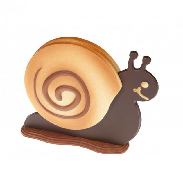 FIN DE SERIE Moule a Chocolat Polly l'Escargot 20 cm (x2)