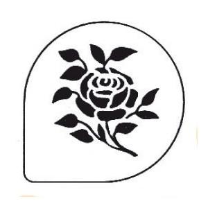 Pochoirs Rose pour Gâteaux