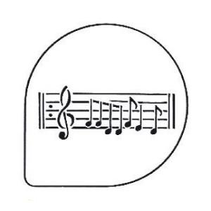 Pochoirs Notes de Musique pour Gâteaux