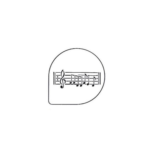 Pochoirs Notes de Musique pour Gateaux
