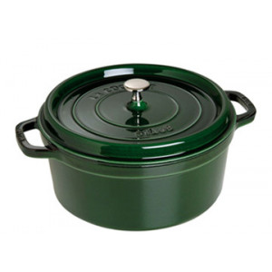 STAUB Cocotte Fonte Ronde 24 cm Vert Basilic Majolique 3,8 L