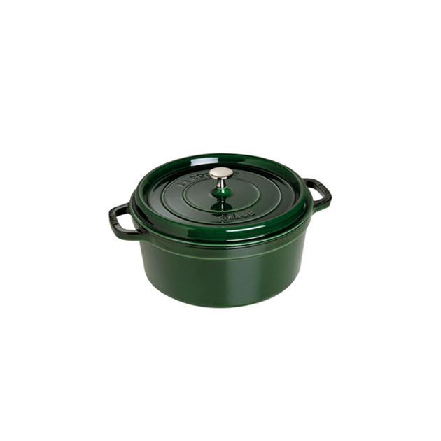 STAUB Cocotte Fonte Ronde 24 cm Vert Basilic Majolique 3.8 L