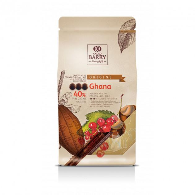 Chocolat lait origine Ghana 40.5%
