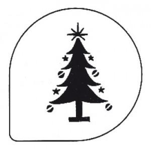 Pochoir Sapin de Noel pour Gâteaux