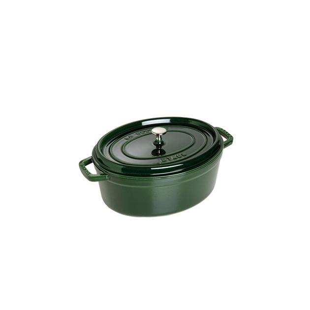 STAUB Cocotte Fonte Ovale 33 cm Vert Basilic Majolique 6.7 L