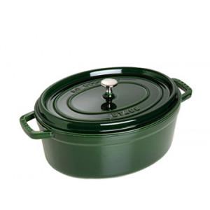 STAUB Cocotte Fonte Ovale 31 cm Vert Basilic Majolique 5,5 L